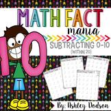 Math Fact Mania {Subtraction}