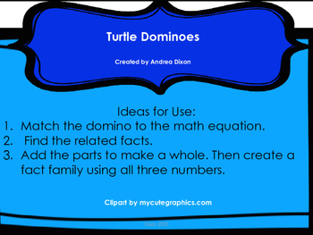 Domino Math Task Cards