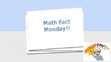 Math Fact Monday Slide Show Power Point