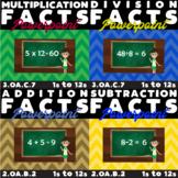 Math Fact Powerpoint Bundle - Mental Math (Add, Subtract,