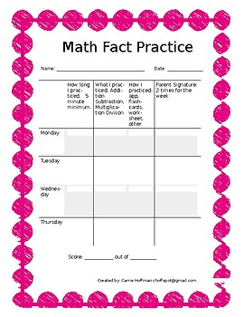 Math Fact Practice Basic