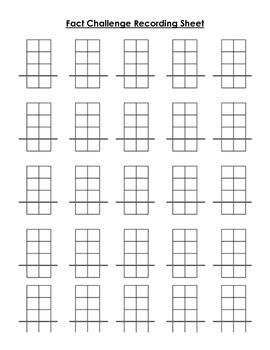 Math Facts Practice Challenge