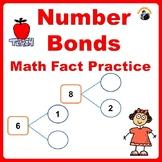 Math Fact Practice Number Bonds - Kindergarten Distance Learning