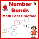 Math Fact Practice Number Bonds - Kindergarten