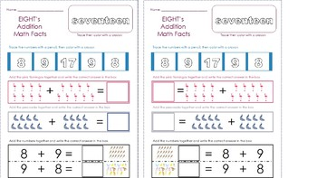 Math Fact Practice Pages