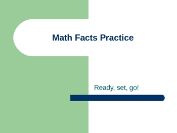 Math Fact Practice Slide Show