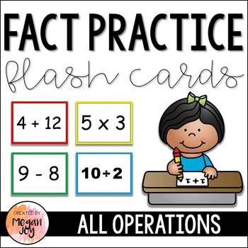 Flash Cards:  Math Fact Practice for All Operations