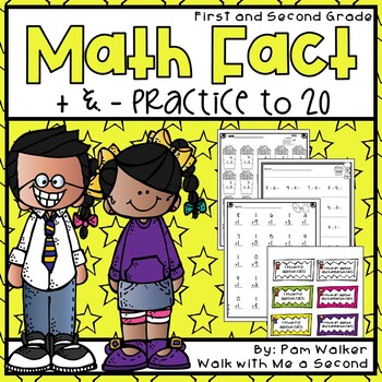 Math Fact Practice to 20 Addition and Subtraction