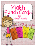 Math Fact Punch Cards