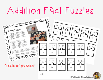 Math Fact Puzzle- Addition