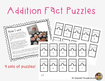 Math Fact Puzzle- Addition
