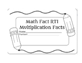 Math Fact RTI - Multiplication