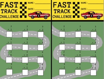 Math Fact Races - Fast Track Challenge