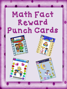 Math Fact Reward Punch Cards