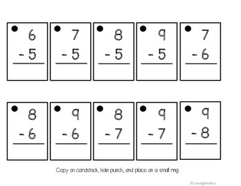 Math Fact Rings, Addition and Subtraction 0-20