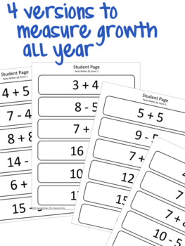 Math Running Record, Addition and Subtraction
