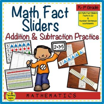 Math Fact Sliders