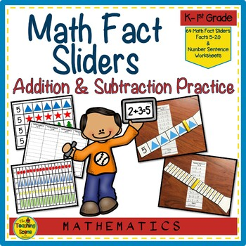 Math Fact Sliders