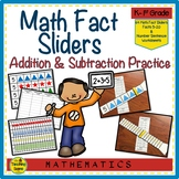 Math Facts Fluency Practice:  Math Sliders Facts to 20