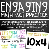 Multiplication Math Fact Practice- Active, engaging slideshows!
