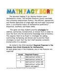 Math Fact Sort
