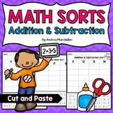 Math Fact Sorts: Addition & Subtraction