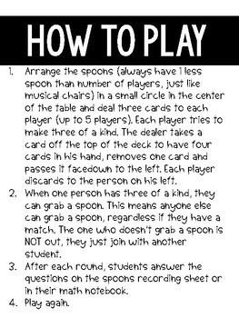Math Fact Spoons