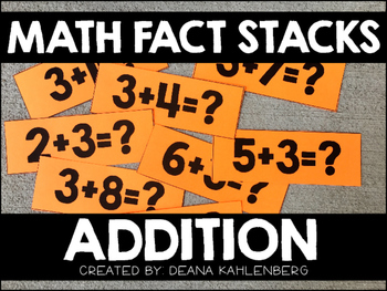 Math Fact Stacks {Addition}