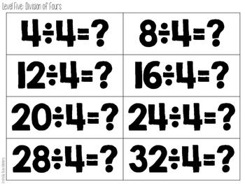 Math Fact Stacks {Division}