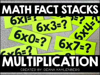Math Fact Stacks {Multiplication}