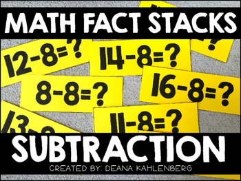 Math Fact Stacks {Subtraction}