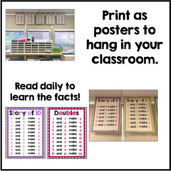 Math Fact Story of Posters