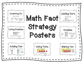 Math Fact Strategy Posters