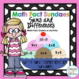 Math Facts Activities Addition and Subtraction Sundaes First Grade