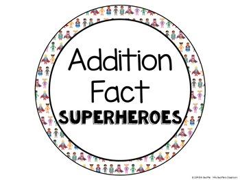 Achievement Bulletin Board Display - Addition & Subtraction Superheroes