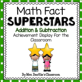 Achievement Bulletin Board Display - Addition & Subtraction Superstars