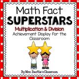 Achievement Bulletin Board Display - Multiplication & Division Superstars