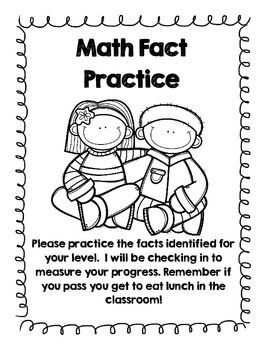 Math Fact Take Home Packet