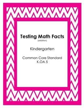 Math Fact Tests