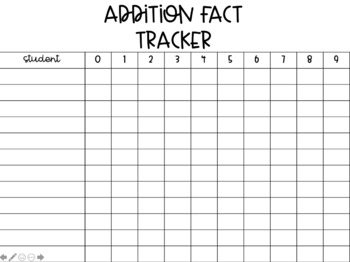 Math Fact Tracker