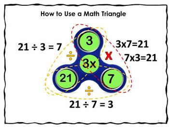 #backtoschool Math Fact Triangle Spinners Spin It to Win It