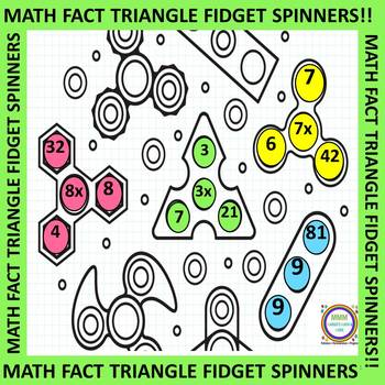#bestof2017 Math Fact Triangle Spinners Spin It to Win It