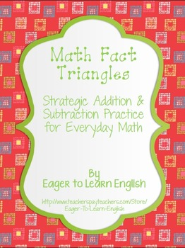 Math Fact Triangles - Add/Subtract 0-10, Doubles, Near-Doubles {Colored Sets}