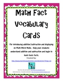 Math Fact Vocabulary Cards - Freebie!