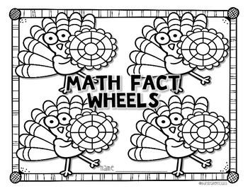 Thanksgiving Math: Turkey Math Fact Wheels
