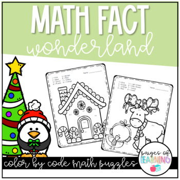 Math Fact Wonderland Winter Color by Number