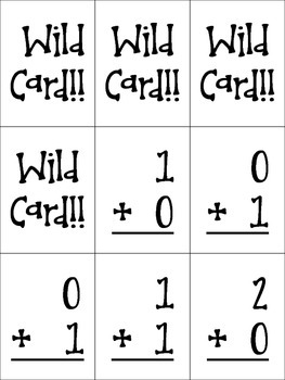 Math Fact cards and game