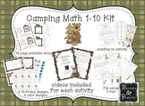 Math Fact fluency for 1-10 Camping theme part 1