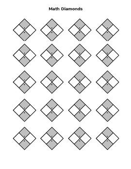 Math Factoring Diamonds