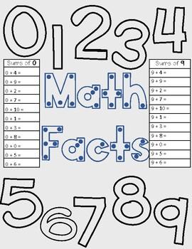 Math Facts 0-10